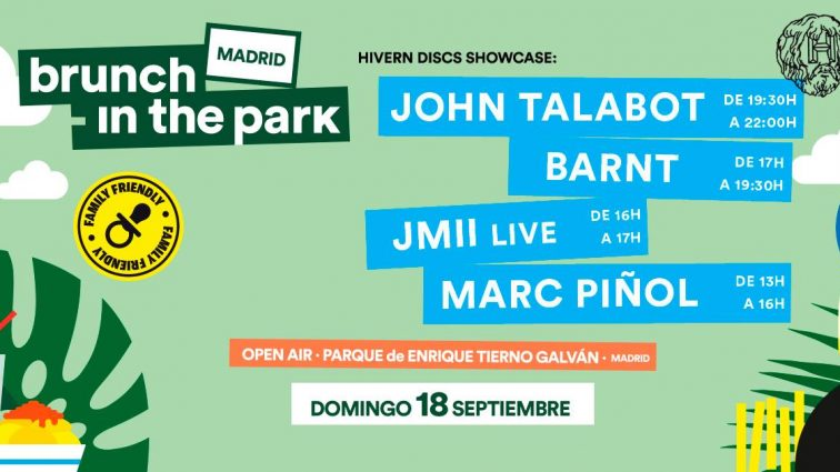 John Talabot, Apollonia, Moodymann, Octave One,  Damian Lazarus, Tiga y Barnt encabezan el cartel de  Brunch -In the Park Madrid