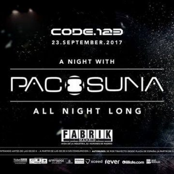 "CONCURSOS: 4 entradas PACO OSUNA ""All Night Long"" Code 123"