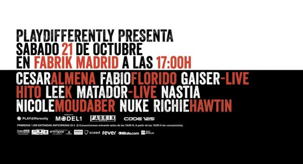 HORARIOS CODE 125 [PLAYdifferently] by Richie Hawtin