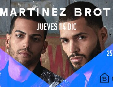 "CONCURSOS: 2 entradas dobles The Cruiser "" Martinez Brothers"" 14 Dcbre"