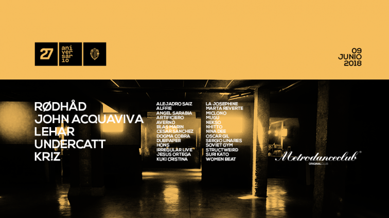 JUN9 Metro Dance Club | 27 aniversario