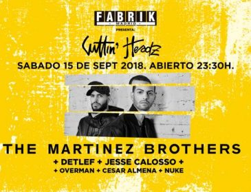CONCURSO: 4 entradas dobles SEP15  The Martinez Brothers en Fabrik