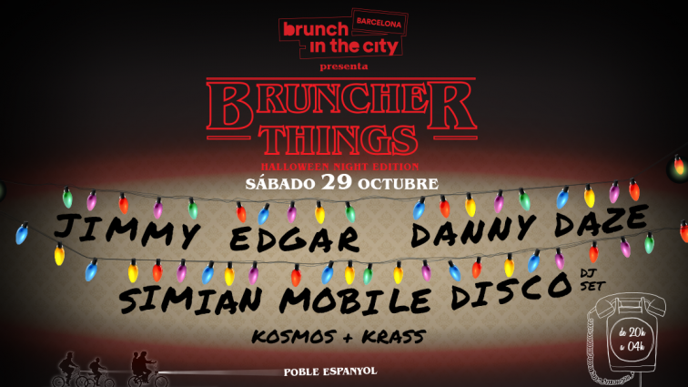 Brunch –In the City despide la temporada con una fiesta de Halloween encabezada por   Jimmy Edgar, Danny Daze y Simian Mobile Disco