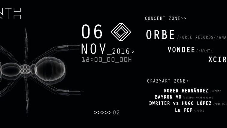 NOV6 06/11 Synth Club presents: Orbe / Vondee / Xcire