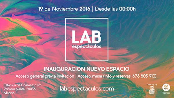 LAB, un espectacular y nuevo espacio, abre sus puertas en Madrid este próximo sábado