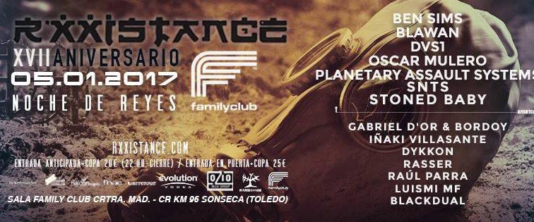ENE5 17 Aniversario R'xxistance – Family Club