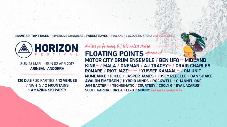 Horizon Festival anuncia escenarios y el cartel por días para un fin de semana que promete nieve a raudales