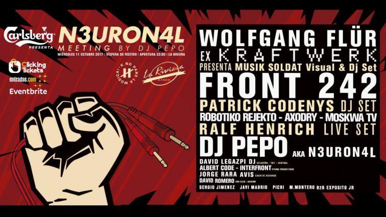 N3URON4L by Dj Pepo cierra el cartel para esta fiesta en La Riviera el próximo 11 de octubre