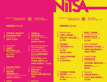 Jon Hopkins, Fatima Yamaha, Carl Craig, Young Marco, Roman Flügel entre los más de 30 artistas que estarán este febrero en Astin y Nitsa