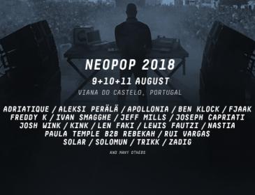 NEOPOP FESTIVAL anuncia nuevos ARTISTAS CONFIRMADOS para su edición 2018