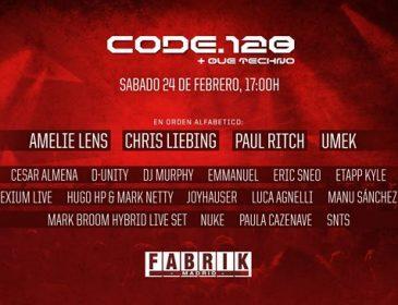Concursos: 5 entradas Dobles CODE Fabrik 24.02.18