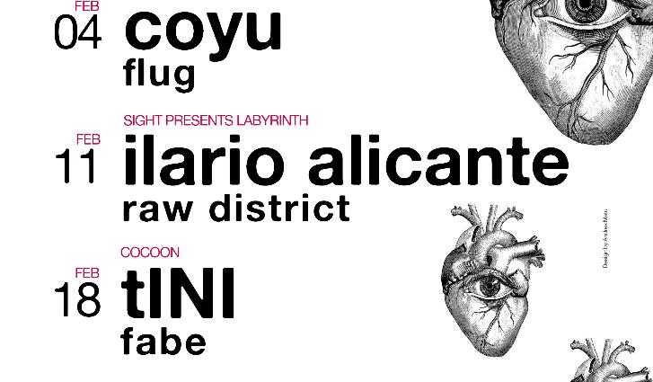 Coyu, Ilario Alicante, tINI y Chris Liebing protagonistas de Sight en febrero