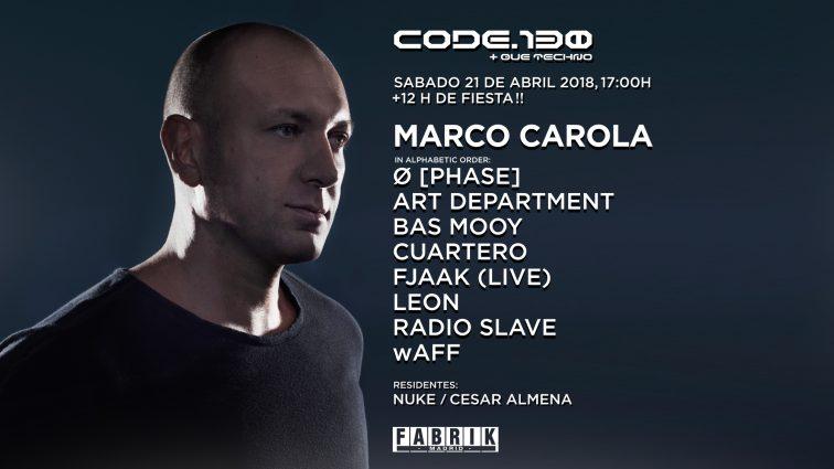 Concursos: 2 entradas Dobles Code 130 MARCO CAROLA
