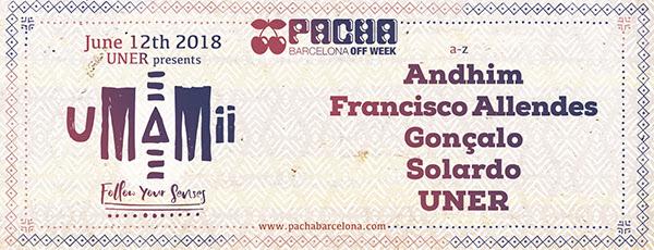 UNER vuelve a Pachá Barcelona con Umamii para Off Week