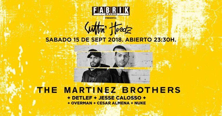CONCURSO: 4 entradas dobles SEP15  The Martinez Brothers en Fabrik