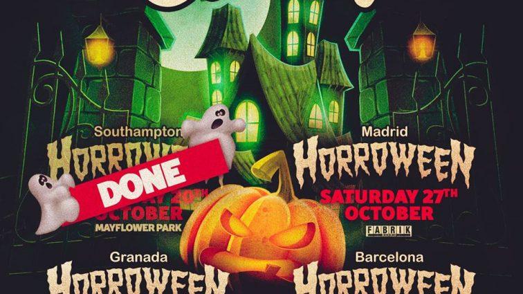 ElRow se triplica por Halloween con shows en Madrid, Granada y Barcelona.