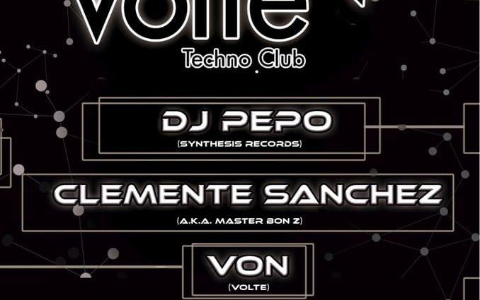 8DIC Volte Techno-Club con Dj Pepo, Clemente Sánchez…