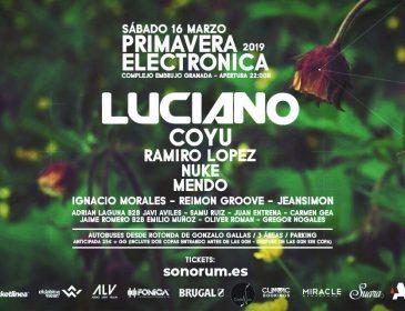 Concurso: 6 entradas PRIMAVERA ELECTRÓNICA 16Marzo w/ Luciano – Granada