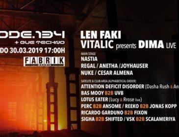 Code 134 @ Fabrik Madrid 30.03.19