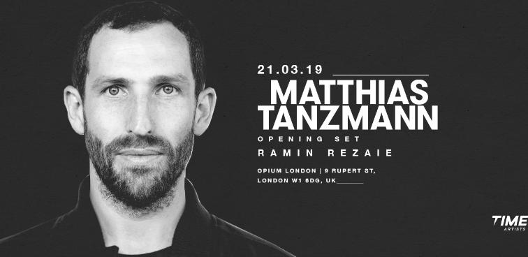 Matthias Tanzmann hará su debut en OPIUM Londres en marzo