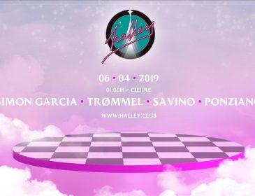Simon Garcia, Trømmel y Savino invitados de Halley en abril