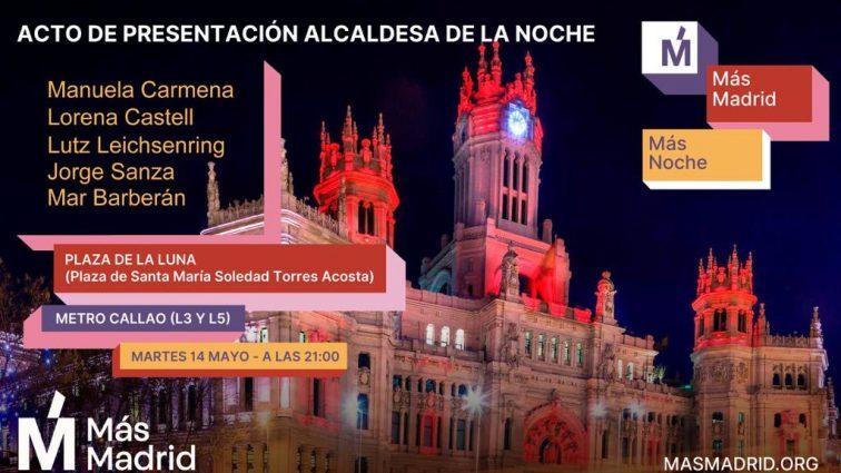 Manuela Carmena adelanta la creación de la Alcaldía de la Noche de Madrid