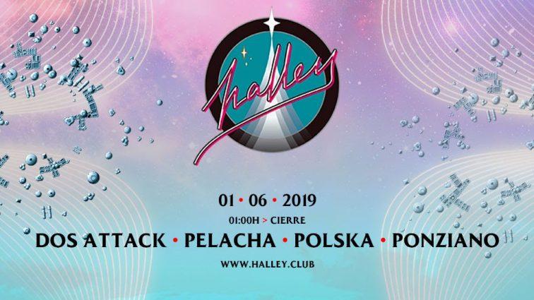 Halley recibe en junio a Dos Attack, Pelacha y Polska