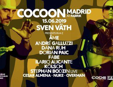 Concurso: 4 entradas dobles Cocoon en Fabrik 15.06.19