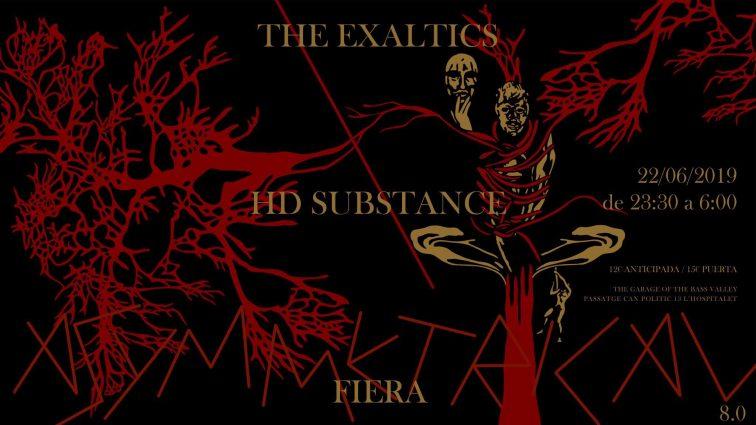 22/06 – Asymmetrical 8.0: Fiera (Live) / The Exaltics / HD Substance BCN