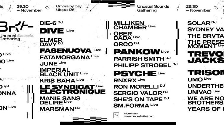 Ombra Festival presenta una segunda ola de nombres que perfilan el cartel completo de su segunda edición