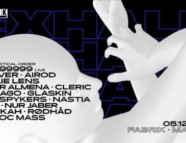 Concurso: 4 entradas dobles Exhale@fabrik 5.12.19