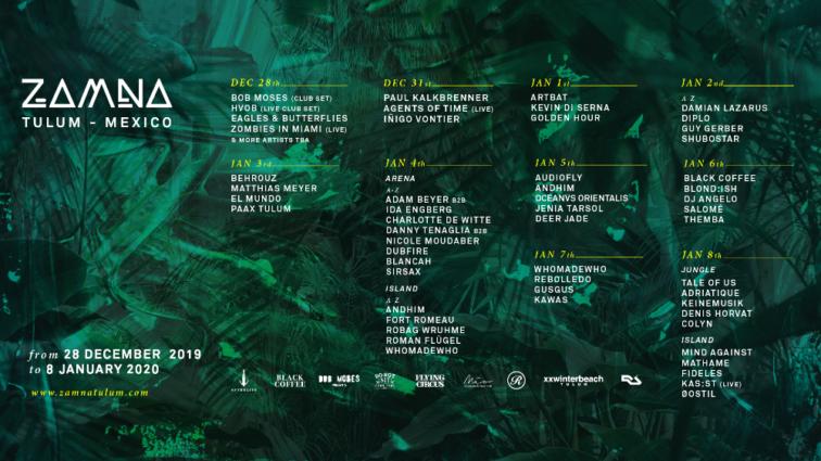 Zamna Festival desvela el cartel por días de su edición 2019/2020