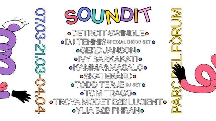 SOUNDIT inaugura temporada el próximo 7 de marzo en el Parc del Fòrum con un cartel liderado por el 'special disco set' de Dj Tennis