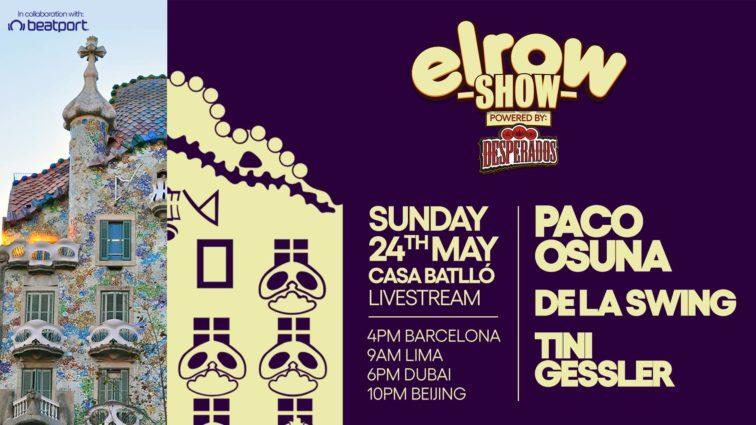 Tres grandes marcas de Barcelona, elrow, Casa Batlló y Paco Osuna se unen para un streaming único.