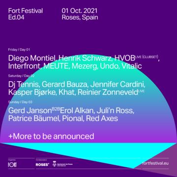 LineUp por días de Fort Festival 2021